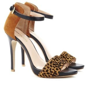 Sole Society- Sheila -Leopard Print + Suede Heels